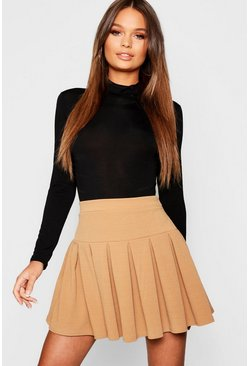 Camel Pleated Tennis Skirt