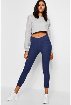 Womens Mid blue Cropped 3/4 Jeggings