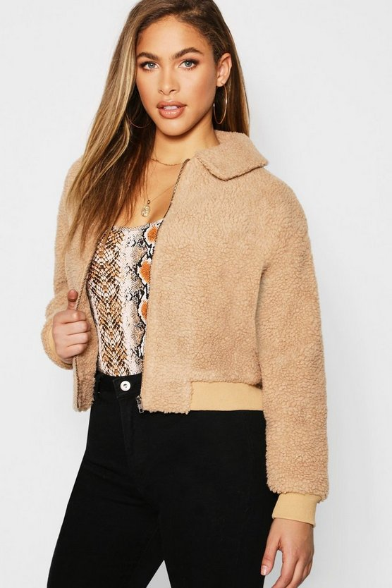 Teddy Faux Fur Bomber