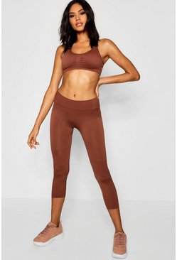 Womens Chocolate Fit Seamfree Legging