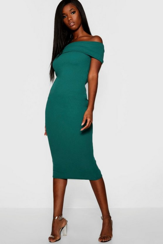 Off The Shoulder Bodycon Midaxi Dress