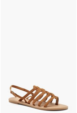Womens Tan Gladiator Sandals