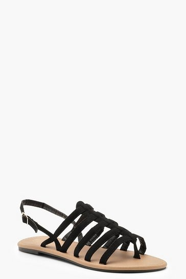 Womens Black Gladiator Sandals