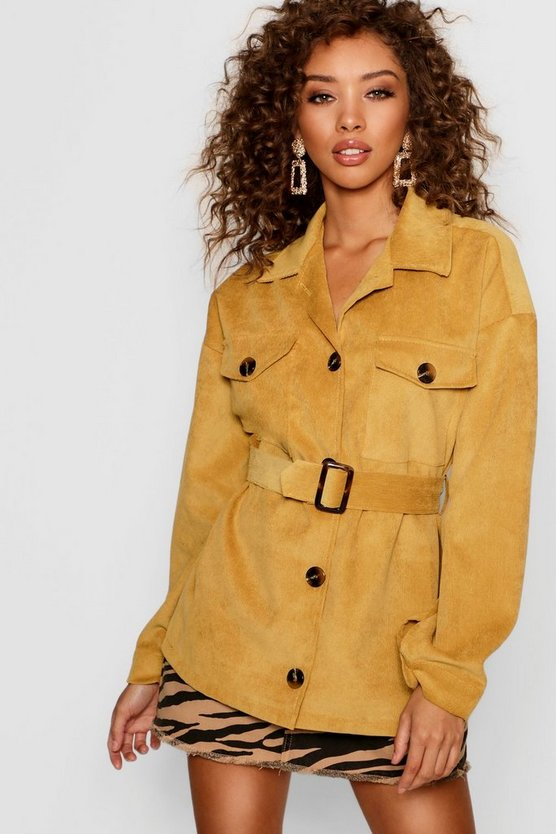 Cord Utility Belted Jacket