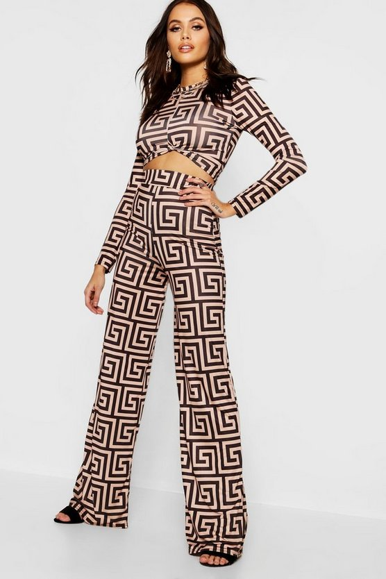 Bold Geo Print Tailored Co-Ord Trousers
