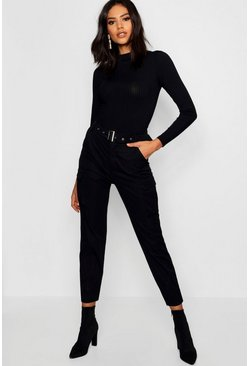 Dam Black Belted Cargo Trouser