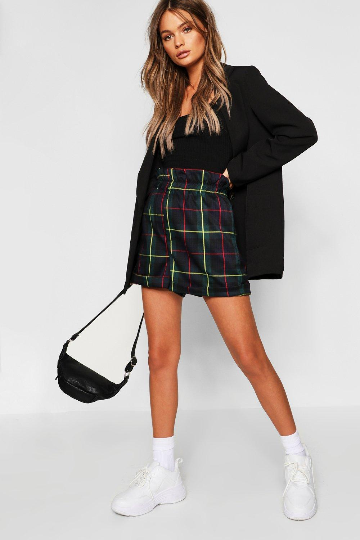 Tartan Check Paperbag Shorts
