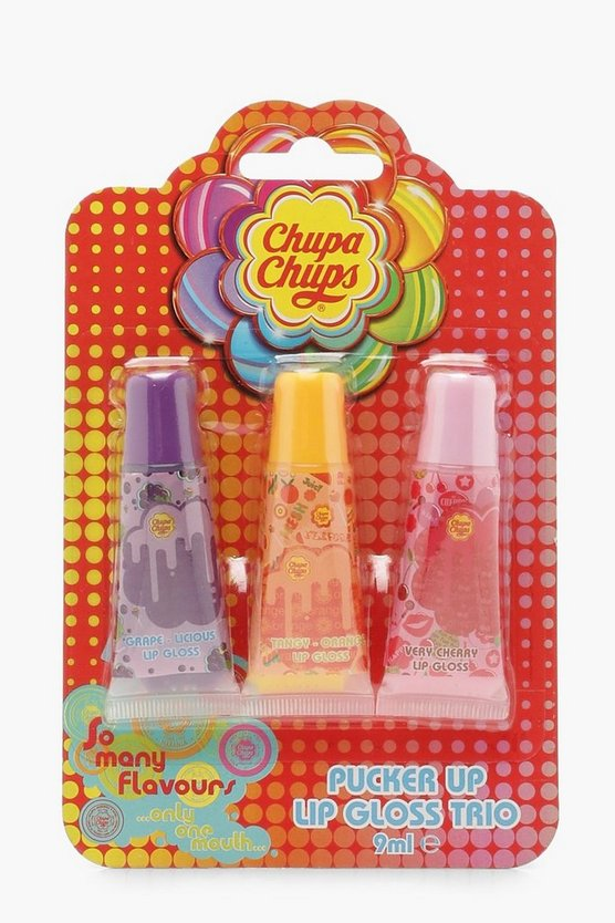 Womens Pink Chupa Chups Lip Gloss Trio