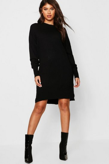 Womens Crew Neck Knitted Oversized Jumper