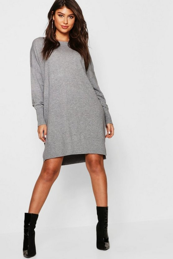 Crew Neck Knitted Oversized Jumper