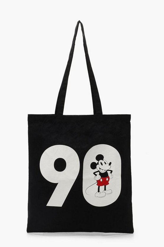 Womens Black Disney Mickey 90 Tote Bag