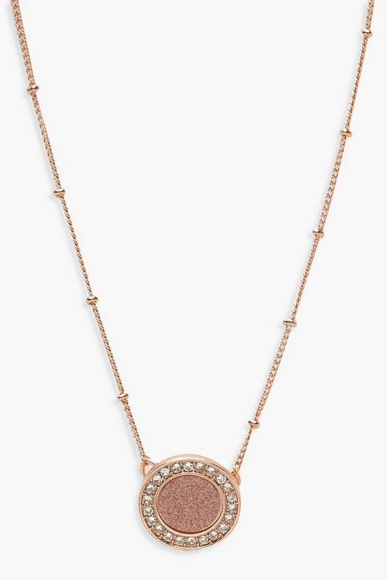 Rose Gold Circle Ball Chain Choker