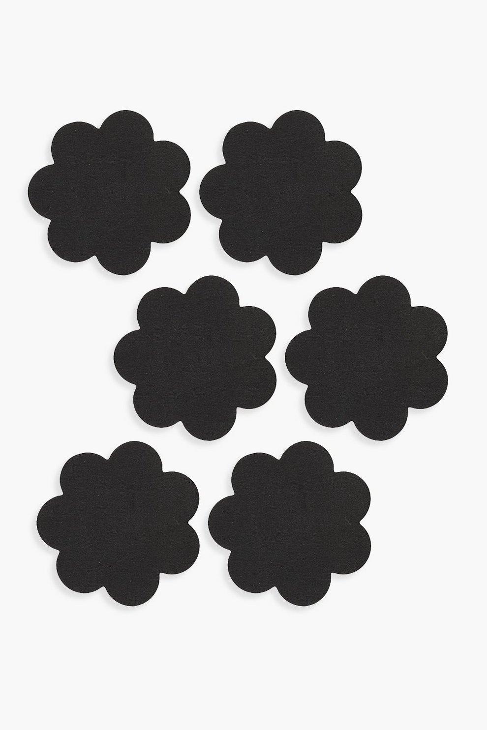3db9f1e53c1 Black Satin Flower Nipple Covers 3 Pack