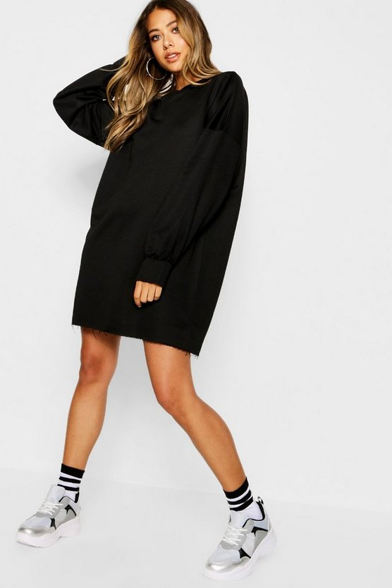 Womens Black The Perfect Oversized Sweat Dress