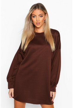 Womens Chocolate The Perfect Oversized Sweat Dress