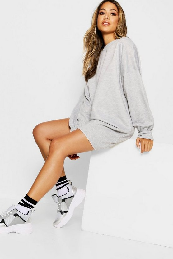 Womens Grey marl The Perfect Oversized Sweat Dress