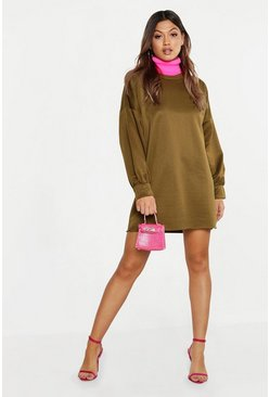 Womens Khaki The Perfect Oversized Sweat Dress