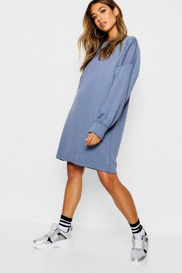 Womens Washed blue The Perfect Oversized Sweat Dress