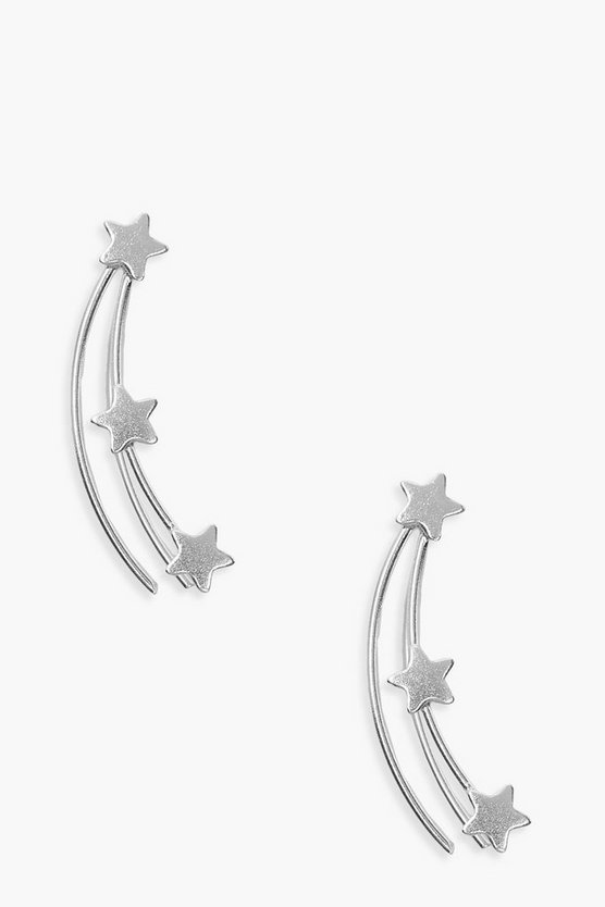 Sterling Silver Shooting Star Studs