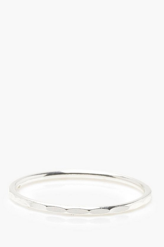 Womens Sterling Silver Fine Textured Ring