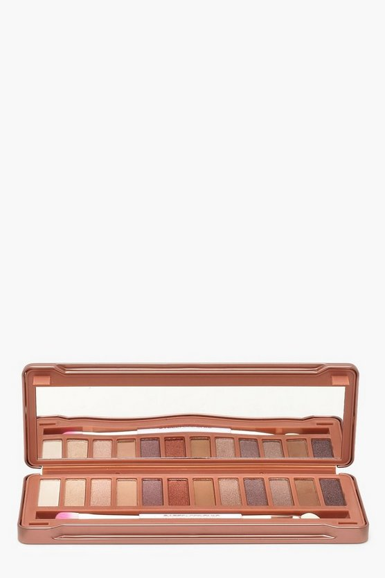 Womens Brown Bare Faced Chic Natural Eye Palette