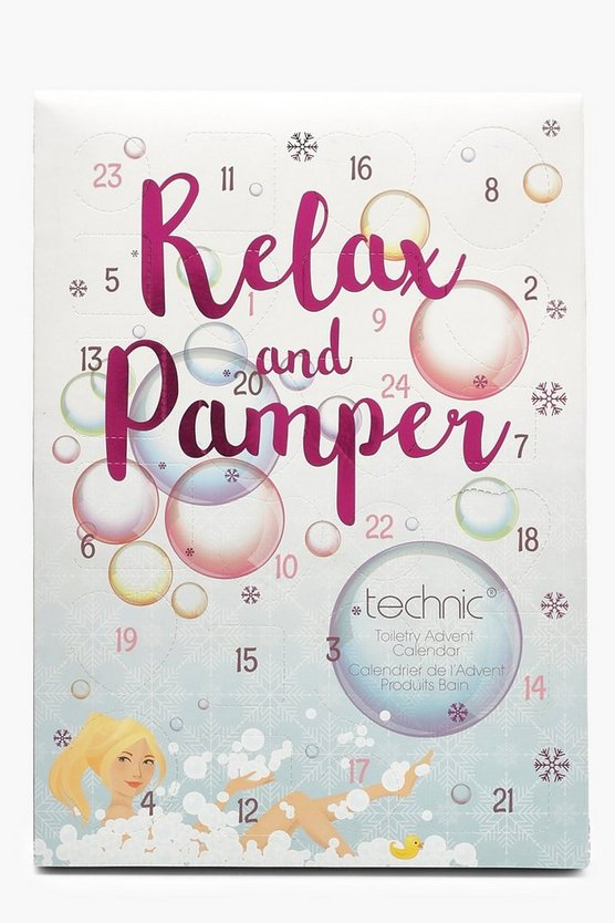 Womens White Technic Relax & Pamper Advent Calender