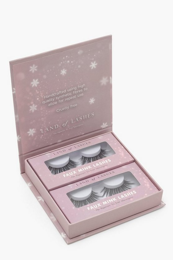 "Pack de 2 ""All I Want For Christmas Is Land Of Lashes"", Negro, Mujer"