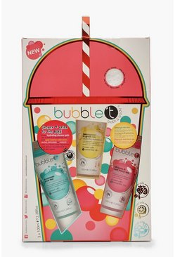 Womens Pink Bubble T Shower & Relax Gift Set