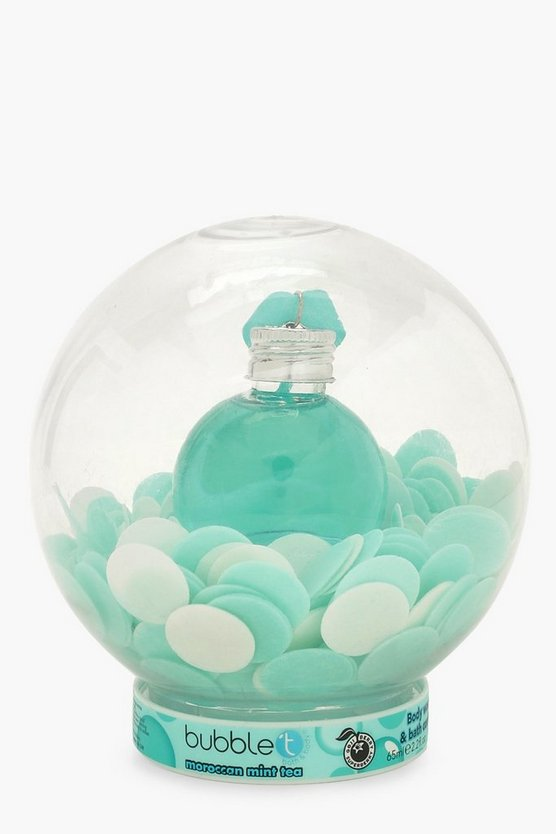 Bubble T Blue Shower Snow Globe