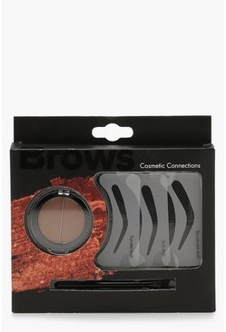 Womens Brown 5 Piece Brow Set
