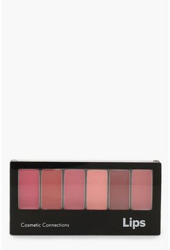 Womens Multi 6 Shade Lip Palette