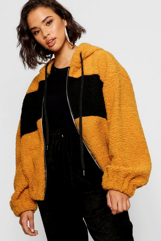 Teddy Faux Fur Oversized Hoody