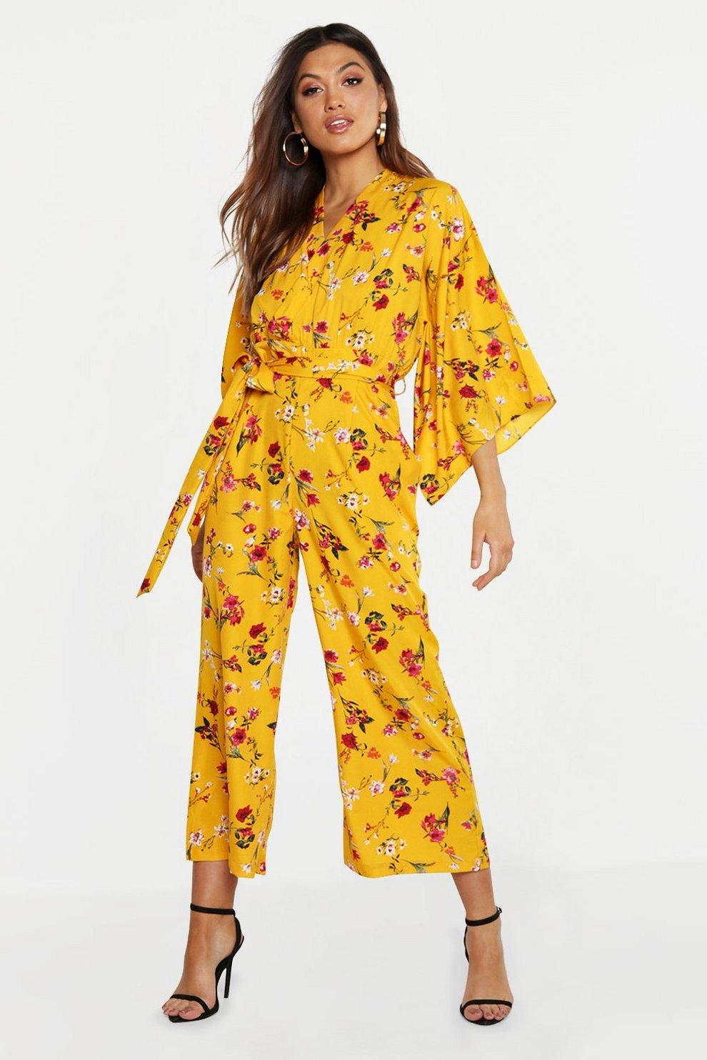 b5ec6fa33f5 Floral Kimono Sleeve Jumpsuit