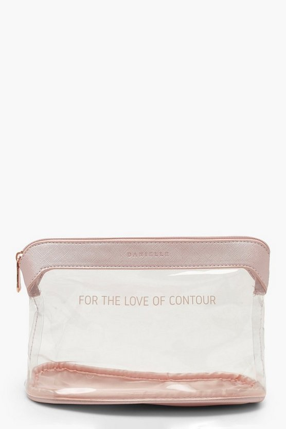 'Contour' Slogan Make Up Bag
