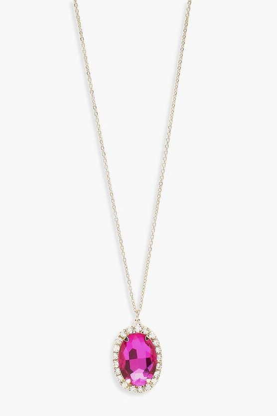 Statement Gem Pendant Necklace