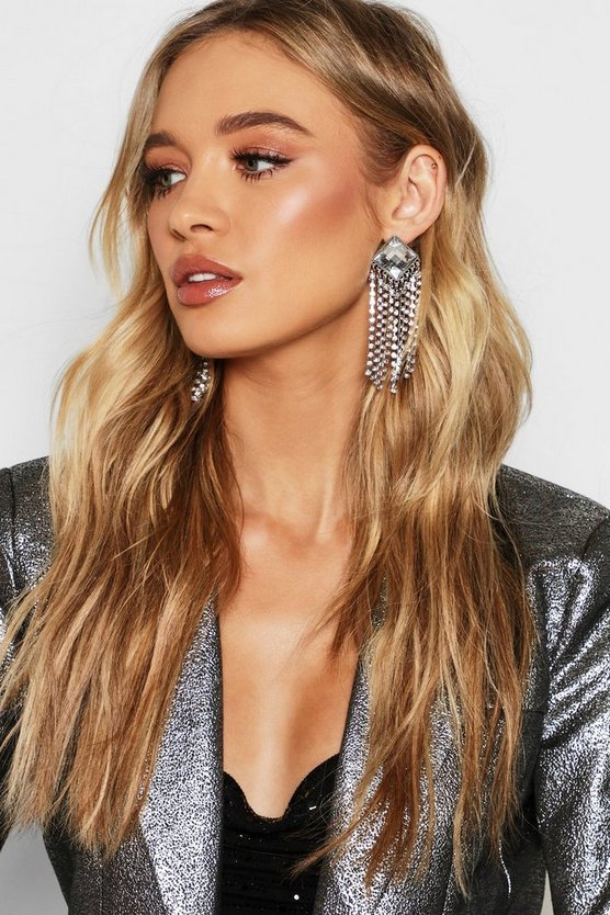 Diamante & Tassel Statement Earrings