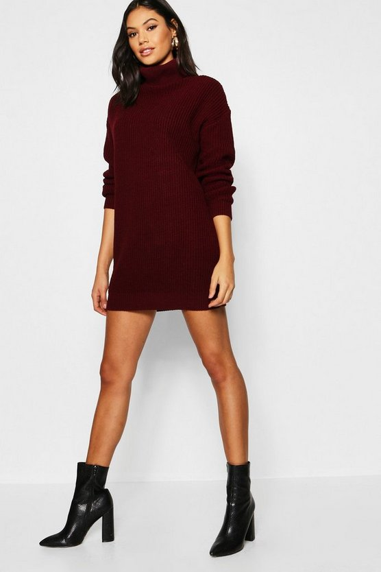 Oversized Roll Neck Dress