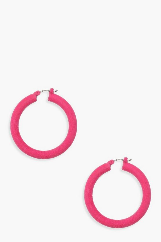 Pink Matte Resin Chunky Hoops