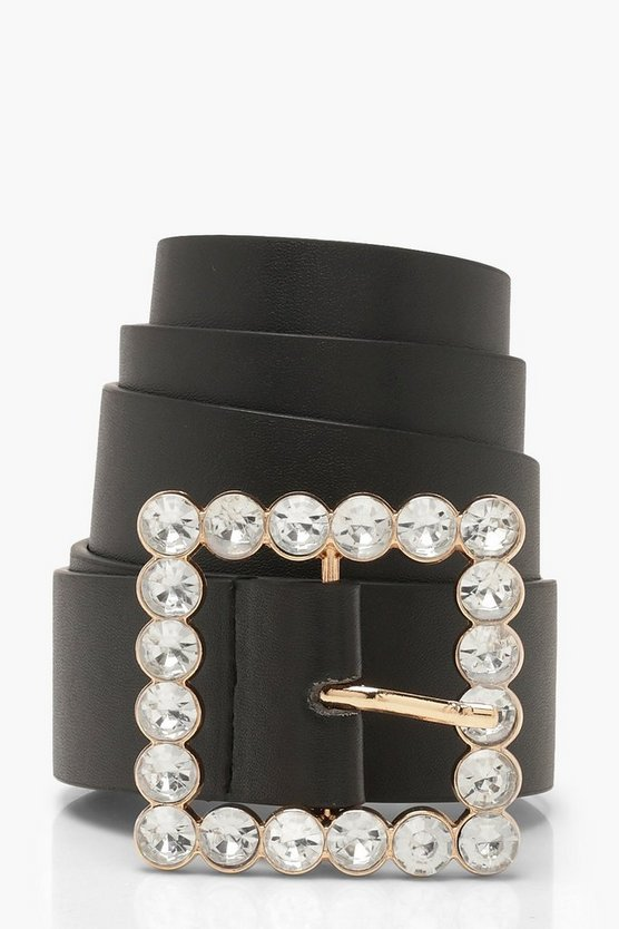 Square Diamante Oversized Belt