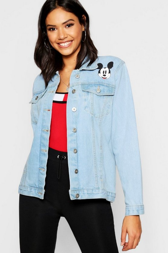 Disney Mickey Graphic Denim Jacket