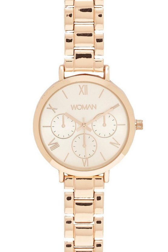 Womens Rose Gold Classic Bracelet Watch