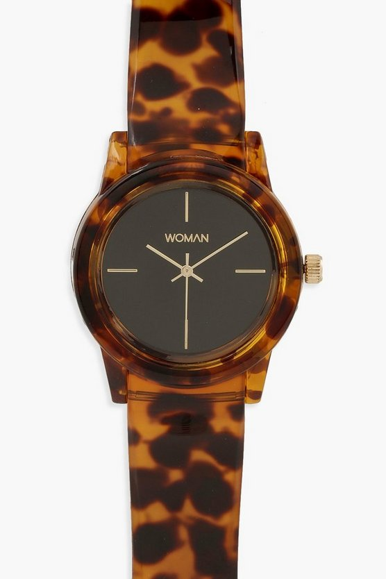 Womens Multi Tortoiseshell Effect Strap Watch