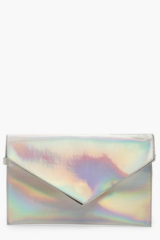 Holographic Envelope Clutch With Chain