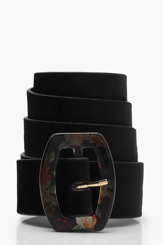 Multi Colour Resin Rectangle Buckle Belt