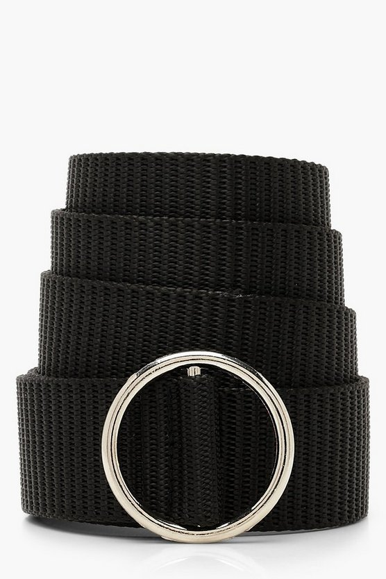Textured Ring Buckle Belt