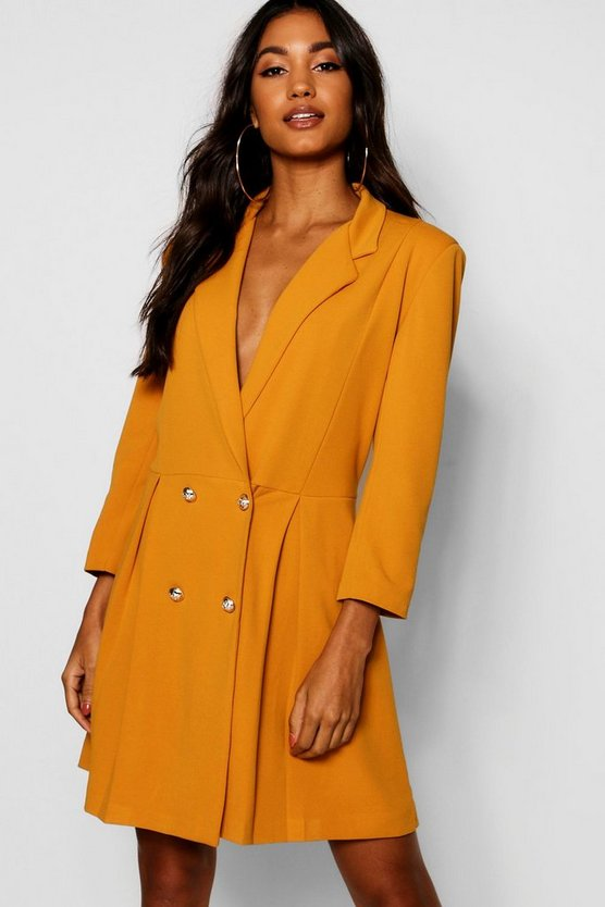 Double Breasted Skater Blazer Dress