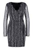 6c365a53fa1 ... Womens Black Premium Sequin Embellished Wrap Blazer Dress alternative  image ...
