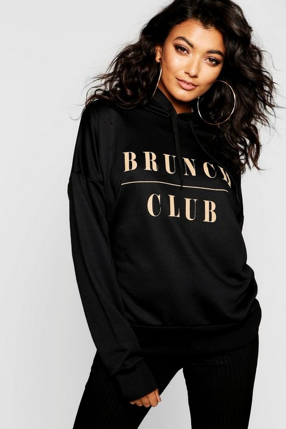 Brunch Club Slogan Hoody