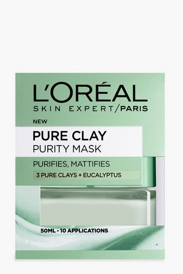 Womens Grey L'Oreal Paris Pure Clay Purity Face Mask 50ml