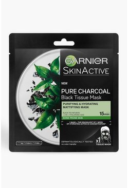 Clear Garnier Charcoal & Black Tea Face Sheet Mask 28g
